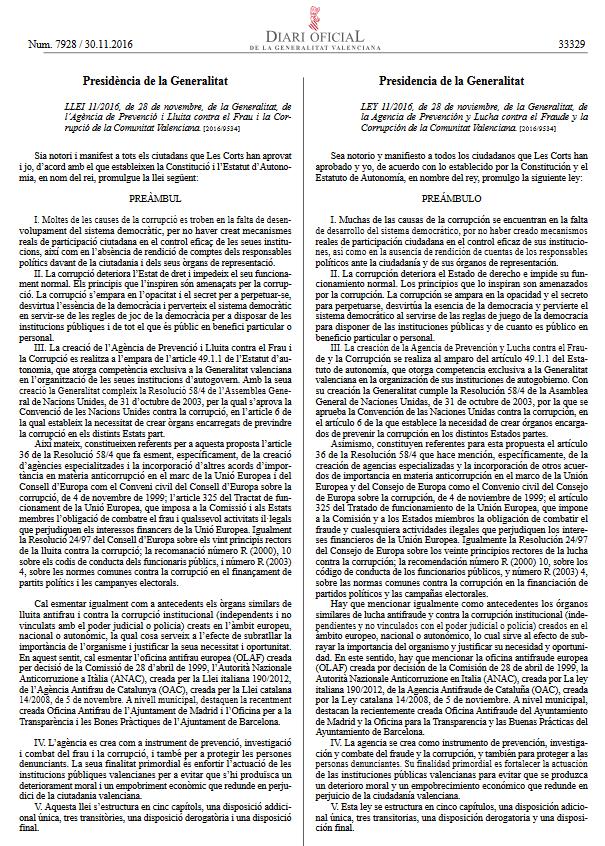 Text consolidat Llei 11/2016, de 28 de novembre publicat en el DOGV