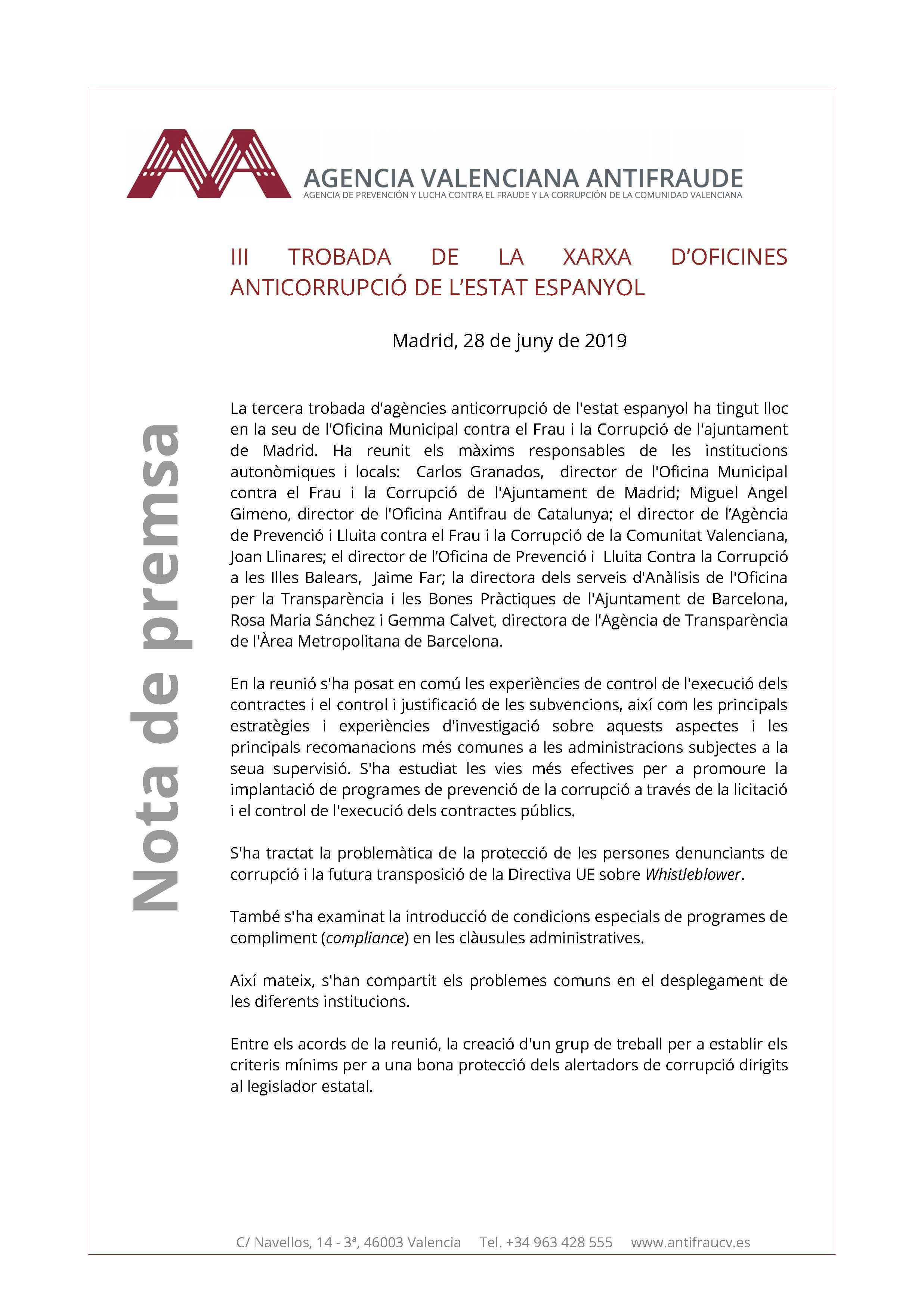 III Trobada de la xarxa d'oficines de l'estat espanyol