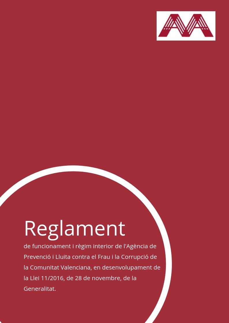 Reglament de funcionament i règim interior de l'Agència